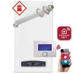 Ariston Cares ONE 30 LPG Combi Boiler 3301053 with Horizontal Flue Kit 3318073 and Sensys Net (3318991) * LPG GAS *