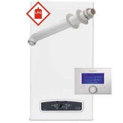 Ariston Cares ONE 24 LPG Combi Boiler 3301052 with Horizontal Flue Kit 3318073 and Sensys 7 Day Programmer (3318585) * LPG GAS *
