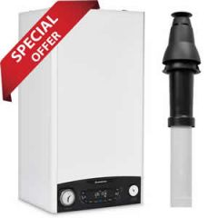 Ariston Clas ONE 30 Combi Boiler 3301044 (8 Year Warranty) with Vertical Flue Kit 3318080 and Starter 3318079