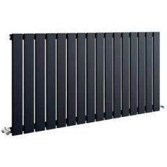 Sherlock Flat Steel Anthracite Horizontal Single Radiator 600mm High x 838mm wide