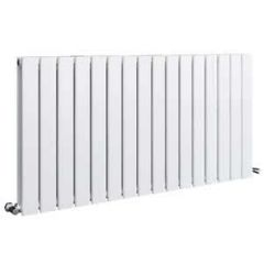 Sherlock Flat Steel White Horizontal Double Radiator 600mm High x 838mm wide