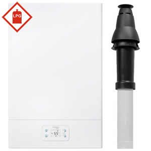 Vokera Aquanova LE 30kW Multipoint LPG Gas Water Heater 20143493 including Vertical Flue Kit 20163423 ** LPG GAS **