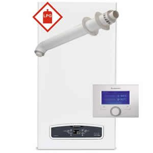 Ariston Cares ONE 30 LPG Combi Boiler 3301053 with Horizontal Flue Kit 3318073 and Sensys 7 Day Programmer (3318585) * LPG GAS *