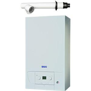 Baxi 428 Combi Boiler 7656163 with Horizontal Flue Kit 7222019