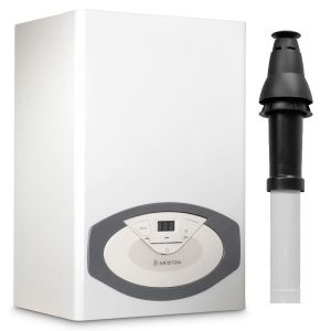 Ariston Clas 24 Conventional Boiler 3300748 (5 Year Warranty) with Vertical Flue Kit 3318080 and Starter 3318079