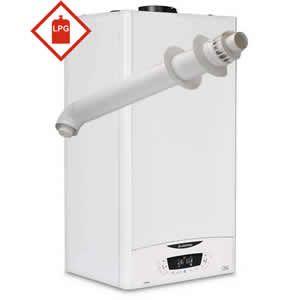 Ariston E-Combi ONE 24 LPG Combi Boiler 3301445 with Horizontal Flue Kit 3318073 ** LPG GAS **