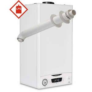 Ariston E-Combi ONE 24 LPG Combi Boiler 3301131 with Horizontal Flue Kit 3318073 ** LPG GAS **