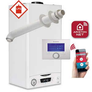 Ariston E-Combi ONE 24 LPG Combi Boiler 3301131 with Horizontal Flue Kit 3318073 and Sensys Net 3318991 ** LPG GAS **