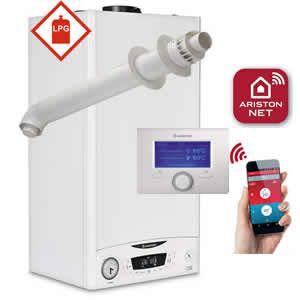 Ariston E-Combi ONE 30 Combi Boiler 3301132 with Horizontal Flue Kit 3318073 and Sensys Net 3318991