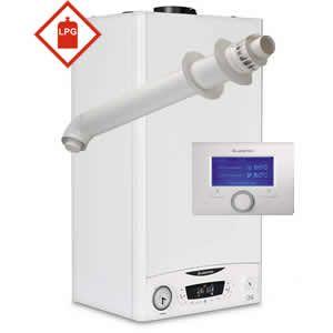 Ariston E-Combi ONE 24 LPG Combi Boiler 3301131 with Horizontal Flue Kit 3318073 and Sensys 7 Day Programmer 3318585 ** LPG GAS **