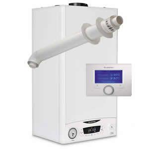 Ariston E-Combi ONE 24 Combi Boiler 3301131 with Horizontal Flue Kit 3318073 and Sensys 7 Day Programmer 3318585