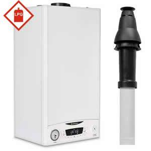 Ariston E-Combi ONE 24 LPG Combi Boiler 3301131 with Vertical Flue Kit 3318080 and Starter 3318079 ** LPG GAS **