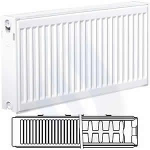 EcoRad 400mm High x 1400mm Wide Double K2 Radiator TD414