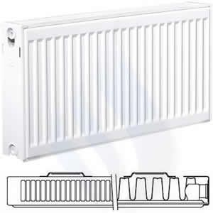 EcoRad 400mm High x 400mm Wide Single K1 Radiator TS404