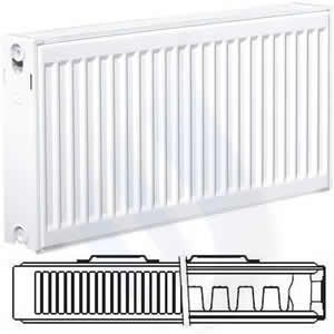 EcoRad 500mm High x 1200mm Wide Double P+ Radiator TP512