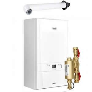 Ideal Logic Max 35 Combi Boiler 218874 with Horizontal Flue Kit 208171
