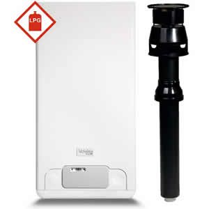 Vokera Mynute 20 VHE Conventional Boiler 20144035 with Vertical Flue Kit 29450122 ** LPG GAS **