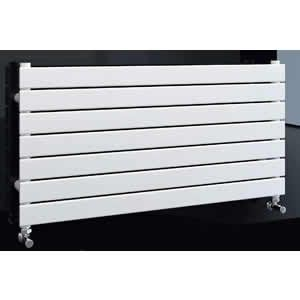 Twyford Flat Steel White Horizontal Single Radiator 550mm High x 800mm wide