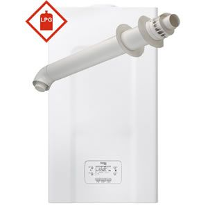 Vokera Vision 25 PLUS Combi Boiler 20173520 with XF Horizontal Flue Kit 20122759 ** LPG GAS **