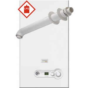 Vokera Compact DIN 25 LPG Combi Boiler 20162844 with XF Horizontal Flue Kit 20122759 ** LPG GAS **