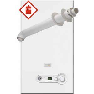 Vokera Compact 29 DIN LPG Combi Boiler 20099233 with XF Horizontal Flue Kit 20122759 ** LPG **