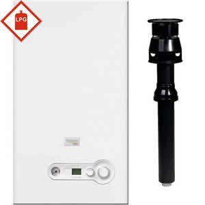 Vokera Compact DIN 32 LPG Combi Boiler 20166153 with XV Vertical Flue Kit 20122763 ** LPG GAS **